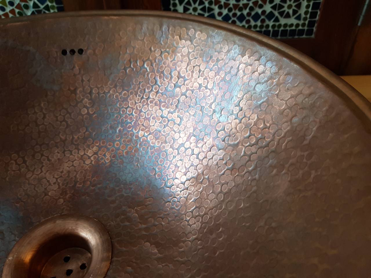 Maatwerk badmeubel donau massief eiken planken met waskom