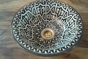 Moroccan pottery sinks